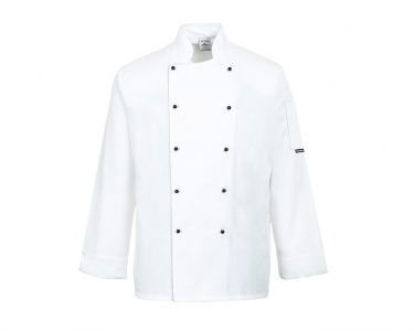White Portwest Somerset Chefs Jacket
